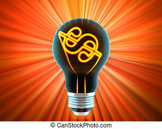 bulb, which represents the profitable idea made in 3D