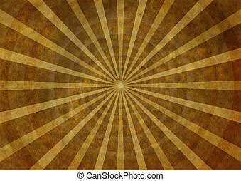 Old paper with rays and concentric circles - Vintage old...