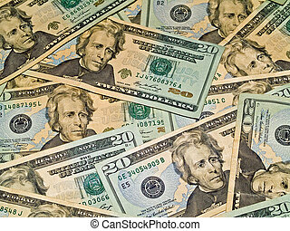 Background of US $20 Bill - Background abstract of US $20...