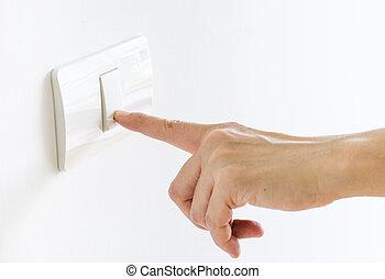 Finger press on light button - Modern Finger press on light...