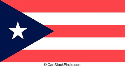 Puerto Rico flag - The official flag of the Commonwealth of...