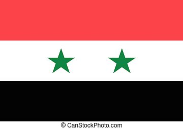 Syrian Arab Republic official flag - The official flag of...