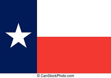 The Texas official flag - The official flag of the state of...