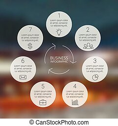 Circle infographic, diagram, graph, presentation, chart -...