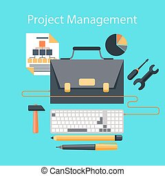 Project management flat design concept - Business concept in...
