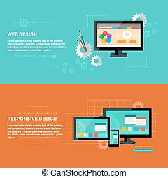 Responsive and web design concept - Concept for web design...