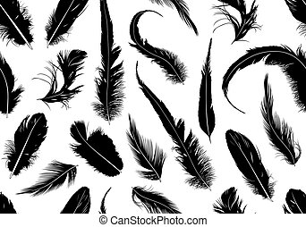 Seamless, feathers, ,
