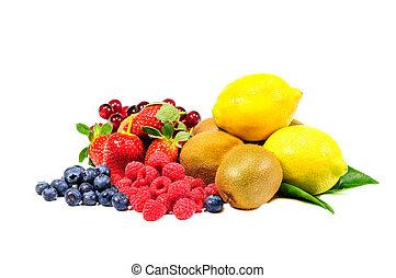 mélange, fruit,