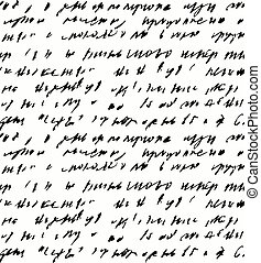 Seamless background of abstract  handwriting