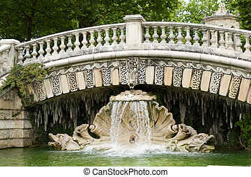 Fountain of darcy park in Dijon