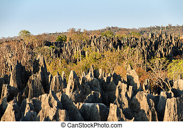 Tsingy geography - Beautiful view on the unique geography at...
