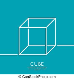 cube on a blue background - 3d cube on a blue background....