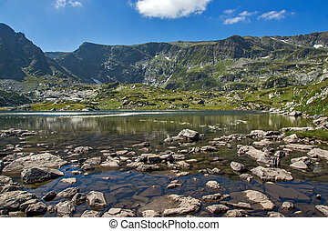 The Trefoil Lake, The Seven Rila Lakes, Rila Mountain,...
