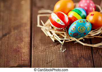 Easter background - Image with Easter symbols