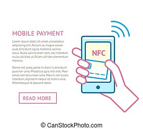 Mobile payment concept - Mobile payment processing concept....