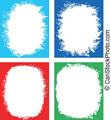 Set of frames for design - Vector art in EPS format All...