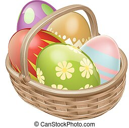 Easter Egg Hamper - An illustration of an Easter Egg hamper...