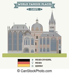 Aacen Cathedral. Germany famous places