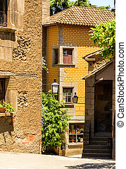 Picturesque corner in Catalunya - Poble Espanyol traditional...