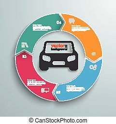 Colored Ring Cycle 4 Options Car Infographic
