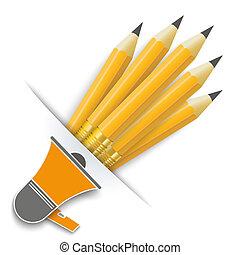 Convert Pencils Bullhorn