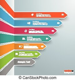 Colored Broken Arrows Infographic - Infographic template...