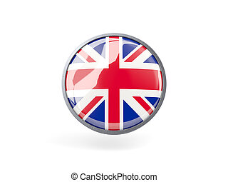 Round icon with flag of united kingdom