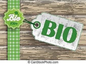 Bio Food Price Sticker Label - Bio food label with price...