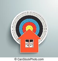 House Target - House with target on the gray background