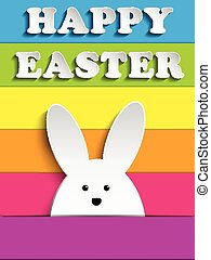 Vector - Happy Easter Rabbit Bunny
