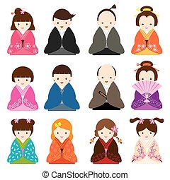Japanese People Traditional Costume