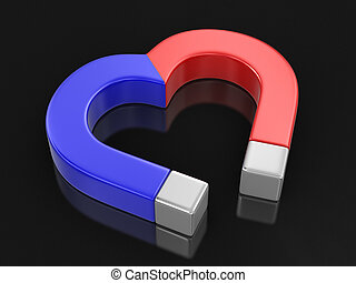 Magnet heart Image with clipping path