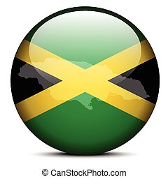 Map on flag button of Jamaica