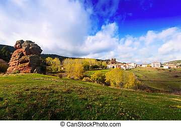 village at Alto Tajo Guadalajara, Spain - Chequilla -...