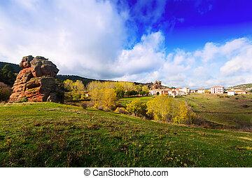 village at Alto Tajo Guadalajara, Spain - Chequilla -...