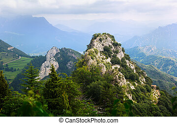 rocky mountains landscape in Pyrenees - rocky mountains...