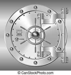 Bank doors - Steel Bank doors. Vector illustration clip art