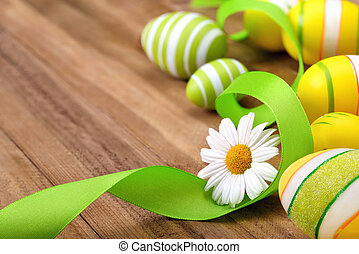 Smart Easter arrangement on wood - Smart Easter decoration...