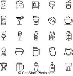 Outline Stroke Beverage icon - Set of Outline Stroke...