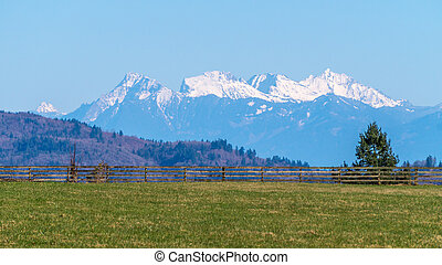 The Coastal Mountains - The Coastal Mountain Range viewed...