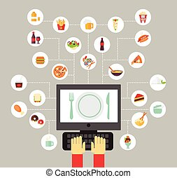 Food icon - Food background - food blogging, reading about...