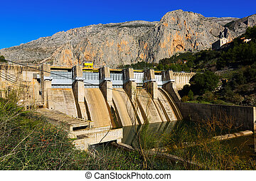 Dam at Chorro river.  Andalusia, Spain
