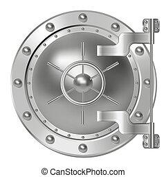 Bank doors - Steel Bank doors on white. Vector illustration...