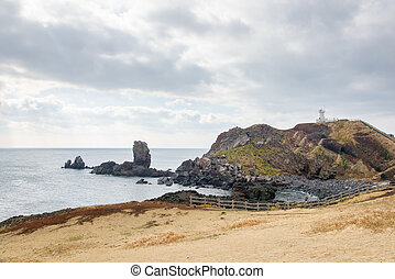 Landhead called Seobjicoji, Famous Place in Jeju Island