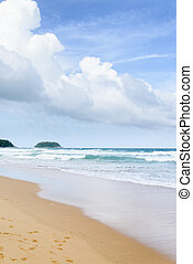 Karon beach in Phuket - view of Karon beach in Phuket,...