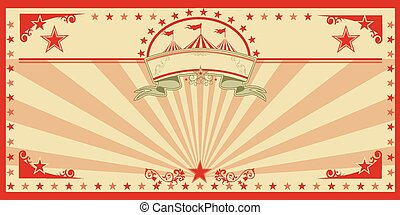 Circus card red vintage