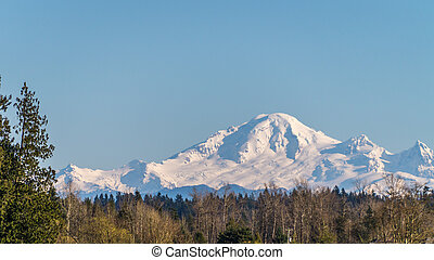Mount Baker seen from Langley - Mount Baker seen from the...