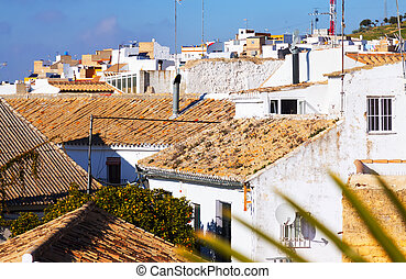 View of residential districts of andalucian town - View of...