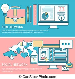 Social network and time to work