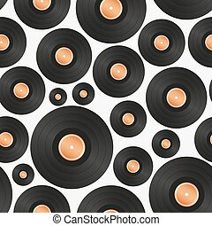 long play LP audio music media symbol seamless pattern eps10